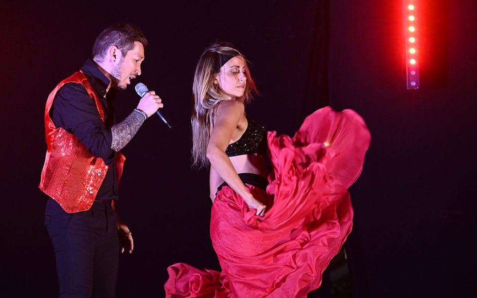 show 80 chanteur danseuses Anthony et Stéphanie